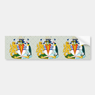 Antartica Coat of Arms detail Car Bumper Sticker