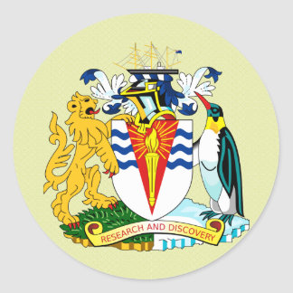 Antartica Coat of Arms detail Round Stickers