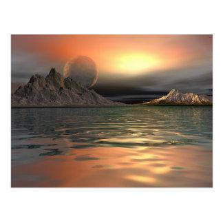 Antartica Moon Postcard