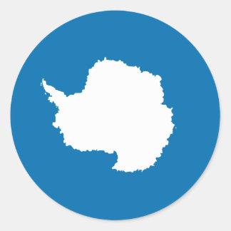 Antartica Pegatina Redonda