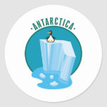 antartica penguin design classic round sticker