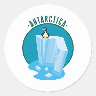 antartica penguin design round sticker