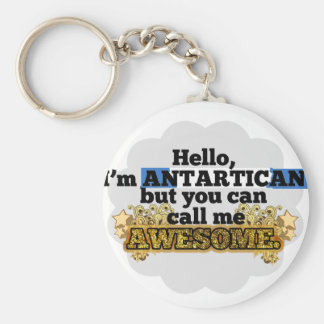 Antartican, but call me Awesome Basic Round Button Keychain