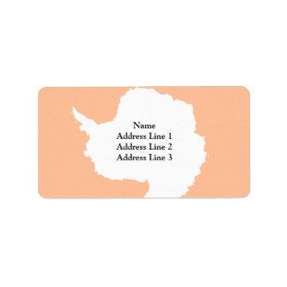 Antártida-Personalizado, la Antártida Etiquetas De Dirección