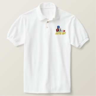 Ante Up Embroidered Polo Shirt
