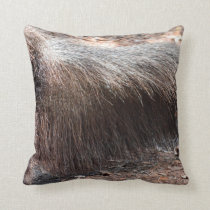 anteater animal tail closeup ant eater throw pillow