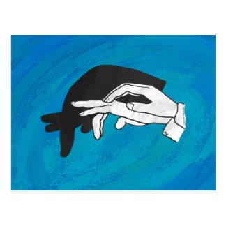 Anteater de la sombra en azul postal