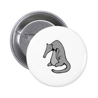 Anteater/monster overthinking life pinback button