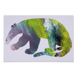 Anteater silhouette poster