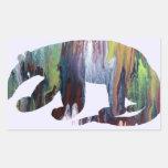 Anteater silhouette rectangular sticker