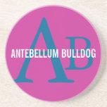 Antebellum Bulldog Breed Monogram Coaster