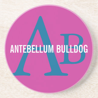 Antebellum Bulldog Breed Monogram Coasters