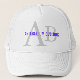 Antebellum Bulldog Breed Monogram Trucker Hat 8233b86fc10