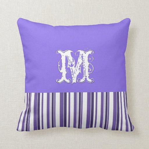 Antecedentes violetas llanos. Rayas retras del mon Almohada