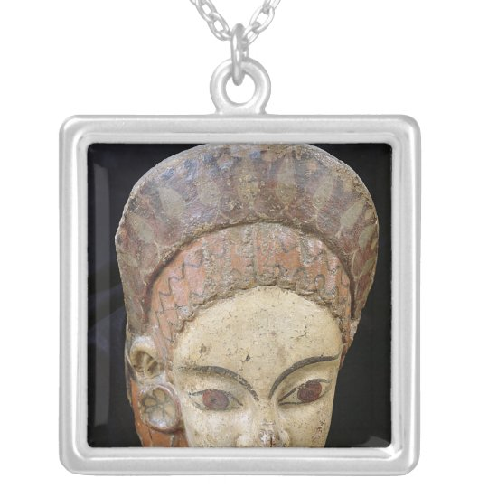 Antefix with a female head, from Cerveteri Silver Plated Necklace