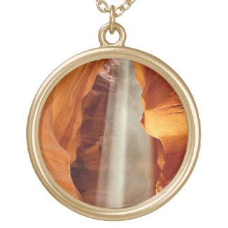 Antelope Canyon Arizona Round Pendant Necklace