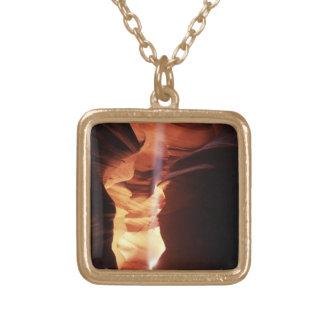 Antelope Canyon Arizona Square Pendant Necklace