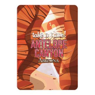 Antelope Canyon Arizona travel poster. Card
