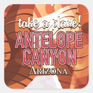 Antelope Canyon Arizona travel poster. Square Sticker