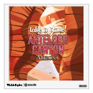Antelope Canyon Arizona travel poster. Wall Sticker