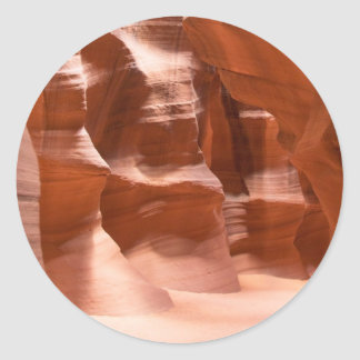 Antelope Canyon, Naturally Lit Classic Round Sticker