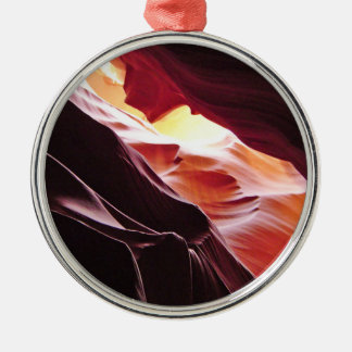 Antelope Canyon, Page Arizona Round Metal Christmas Ornament