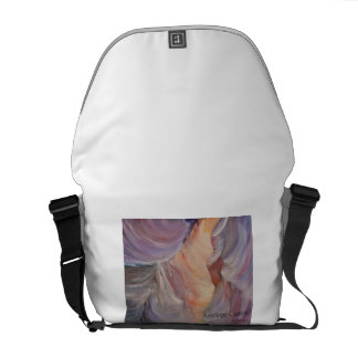 antelope canyon painting in oil messenger bag
