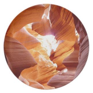 Antelope canyon plate