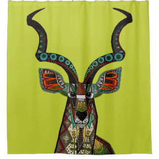 antelope chartreuse shower curtain