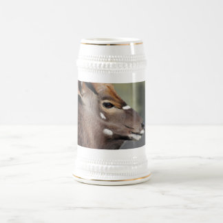 Antelope close up beer stein