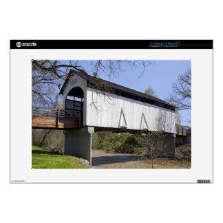Antelope Creek Covered Bridge, built in 1922 Laptop Decals