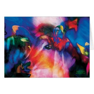 Antelope Curiosity - colorful art Card