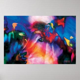 Antelope Curiosity - colorful art Print
