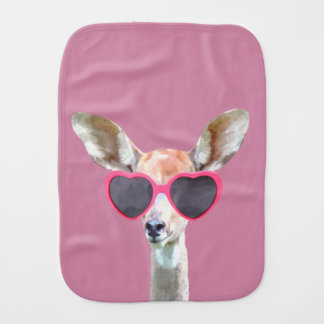 Antelope cute and funny woodland animal baby kids burp cloth