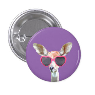 Antelope cute funny woodland animal pinback button