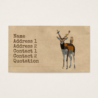 ANTELOPE & FEATHERS Business Card