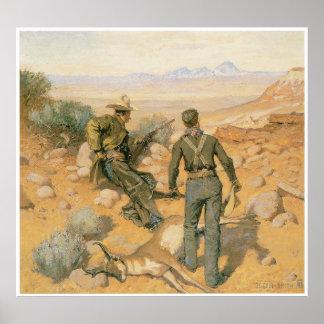Antelope Hunting - South Dakota, c. 1880s Poster