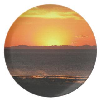 Antelope Island Sunset Dinner Plate