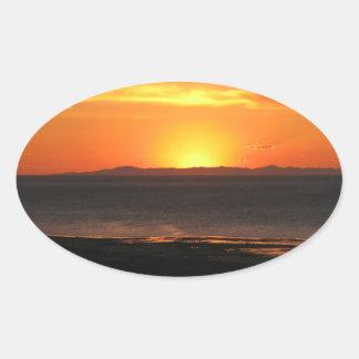 Antelope Island Sunset Oval Stickers