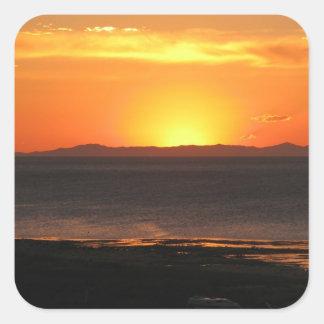Antelope Island Sunset Square Sticker