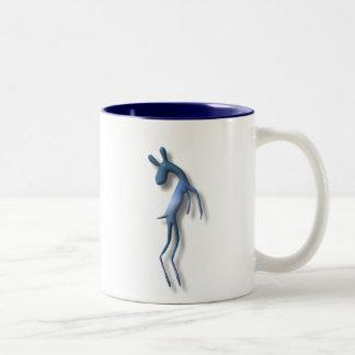 Antelope (or Gazelle) Two-Tone Coffee Mug