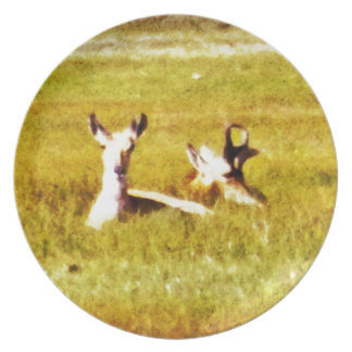 Antelope Pair Dinner Plate