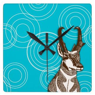 Antelope Ripple Square Wall Clock