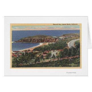 Antena de la bahía esmeralda tarjeta de felicitación