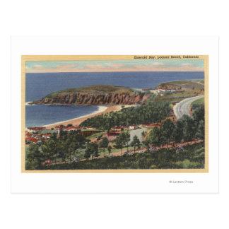 Antena de la bahía esmeralda postales