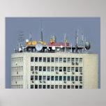 antena de la telecomunicación póster