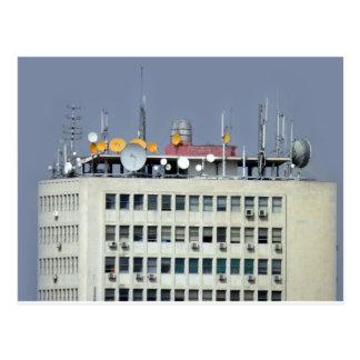 antena de la telecomunicación postal