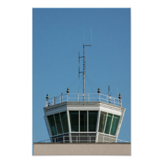 Antena de la torre de control de aire póster