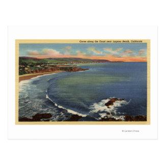 Antena de las ensenadas a lo largo de la costa tarjetas postales