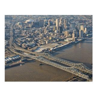 Antena de New Orleans en el centro de la ciudad Tarjetas Postales